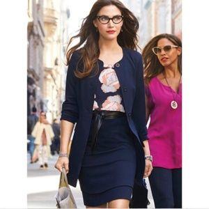 CAbi Navy Lido Skirt Style #5051  6